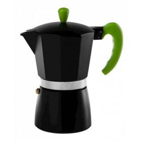 Kawiarka do kawy espresso CORETTO czarno/zielona