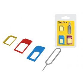 Adapter kart tel.nano i micro sim z kluczykiem  LXET4
