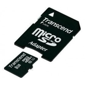 Karta pamięci SD micro 8GB TRANSCEND + adapter   PREMIUM